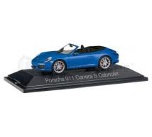 Herpa - Porsche Carrera S Cabrio bleue
