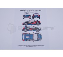 Racing decals 43 - Peugeot 207 S2000 M-C 2011
