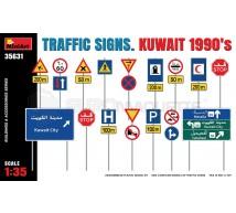Miniart - Traffic signs Kuwait 1990