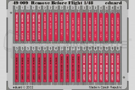 Eduard - Remove before flight