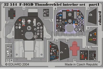 Eduard - F-105 D interieur (trumpeter)