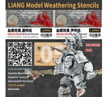 Liang model - Splashes blood effect airbrush stencil
