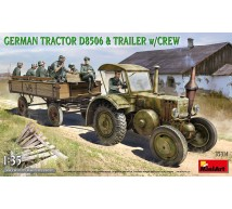 MINIART - German Tractor D8506 with trailer and crew