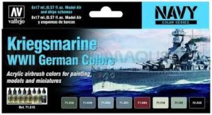 Vallejo - Coffret Kriegsmarine colors WWII (x8)