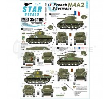 Star decals - French M4A2 Shermans