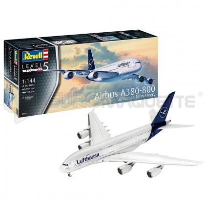 Revell - Airbus A380-800 nouvelle livrée Lufthansa