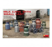 Miniart - Milk cans & small cat