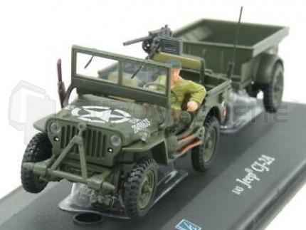 Cararama - Jeep & remorque WWII