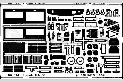 Eduard - Horch Kfz.15  (italeri)