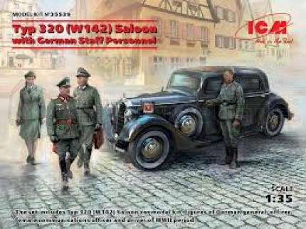 Icm - Mercedes Type 320 & German staff
