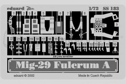 Eduard - Mig 29 A Fulcrum (italeri/bilek)