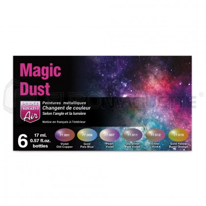 Prince august - Coffret Magic Dust metal colors (x6)