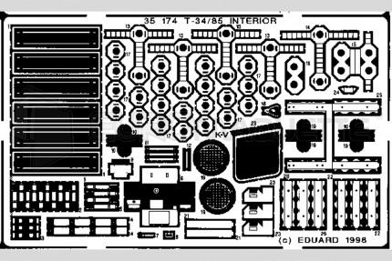 Eduard - T-34/85 interieur(maquette/rpm)