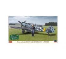 Hasegawa - Bf-109 G-6/14 Hartmann & Pilote (LE)
