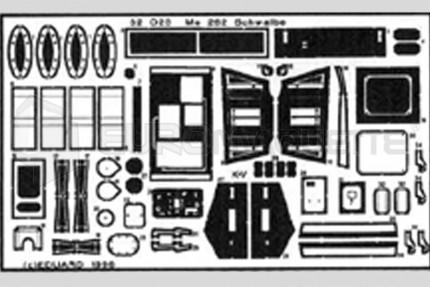 Eduard - Me-262 A exterieur (revell)