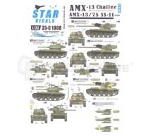 Star decals - AMX-13/75 & 13/Chaffee