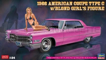 Hasegawa - American Coupe 1966 & Blond girl