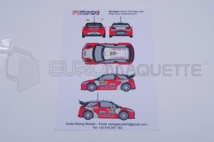 Racing decals 43 - DS3 16 Catalunya 2011