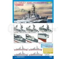 Dragon - USS C. Adams 1/700