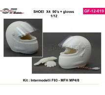 Gf models - Casque Shoei et gants 1992:93