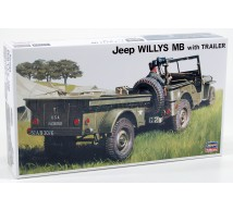 Hasegawa - Jeep Willys & remorque