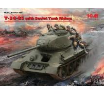 Icm - T-34/85 & tank Riders