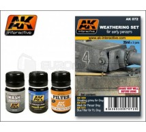 Ak interactive - coffret early Panzer Weathering set