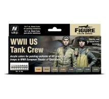 Vallejo - Coffret US tank crew colors WWII