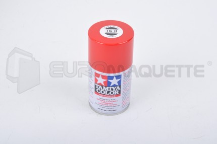 Tamiya - Rouge Italien Brillant TS-8 (bombe 100ml)