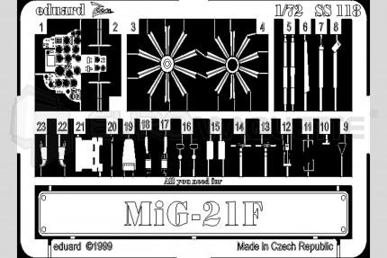 Eduard - Mig 21 F  (bilek)