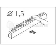 Cmk - Ecrous héxago. 1.5mm   (x60)