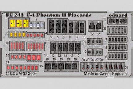 Eduard - F-4 Phantom Placards