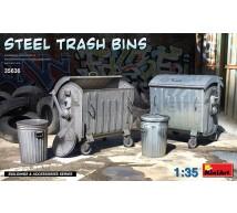 Miniart - Steel trash bins