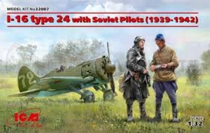 Icm - I-16 Type 24 & Pilots