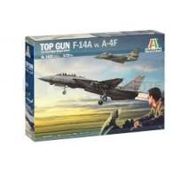 Italeri - Coffret Top Gun F-14/A-4F