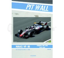 Pit wall - Haas VF-18 decals (pour Tamiya 20068)