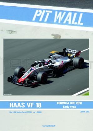 Pit wall - HAAS VF18 Grosjean 2018 (Transkit pour Tamiya 20068)