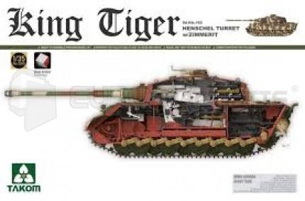 Takom - King Tiger Henschel  & Zimmerit et inerieur
