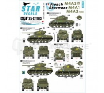 Star decals - French M4A3 & M4A1