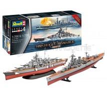 Revell - Coffret Hood 1/720 & Bismarck 1/700