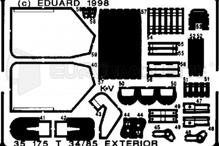 Eduard - T-34/85 ext. (maquette/rpm)