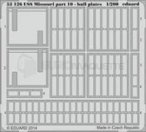 Eduard - USS Missouri Hull plates Part 10 (Trumpeter)
