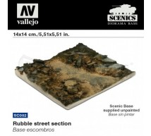 Vallejo - Rubble street section 14x14cm