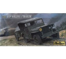 Heller - Jeep Willis & trailer