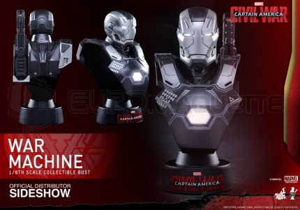Hot toys - War Machine Mk III Civil War bust
