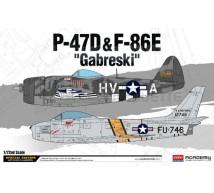 Academy - combo P-47D & F-86E Gabreski