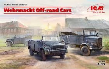 Icm - Wehrmacht Off road cars set (x3)