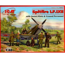 Icm - Spitfire LF IX E & Ground personnel