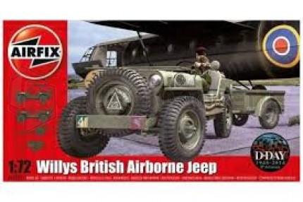 AIRFIX - Jeep Willys avec remorque et canon 6pdr