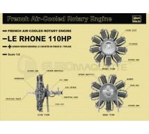 Hasegawa - Le Rhone 110HP engine 1/8